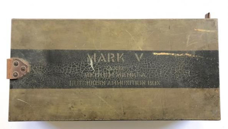 WW1 Tank Corps Hotchkiss Ammunition Box.