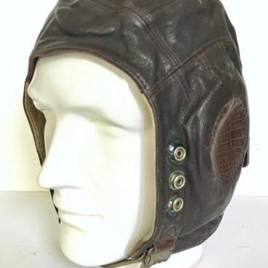 WW2 RAF C Type Pattern Leather Flying Helmet.