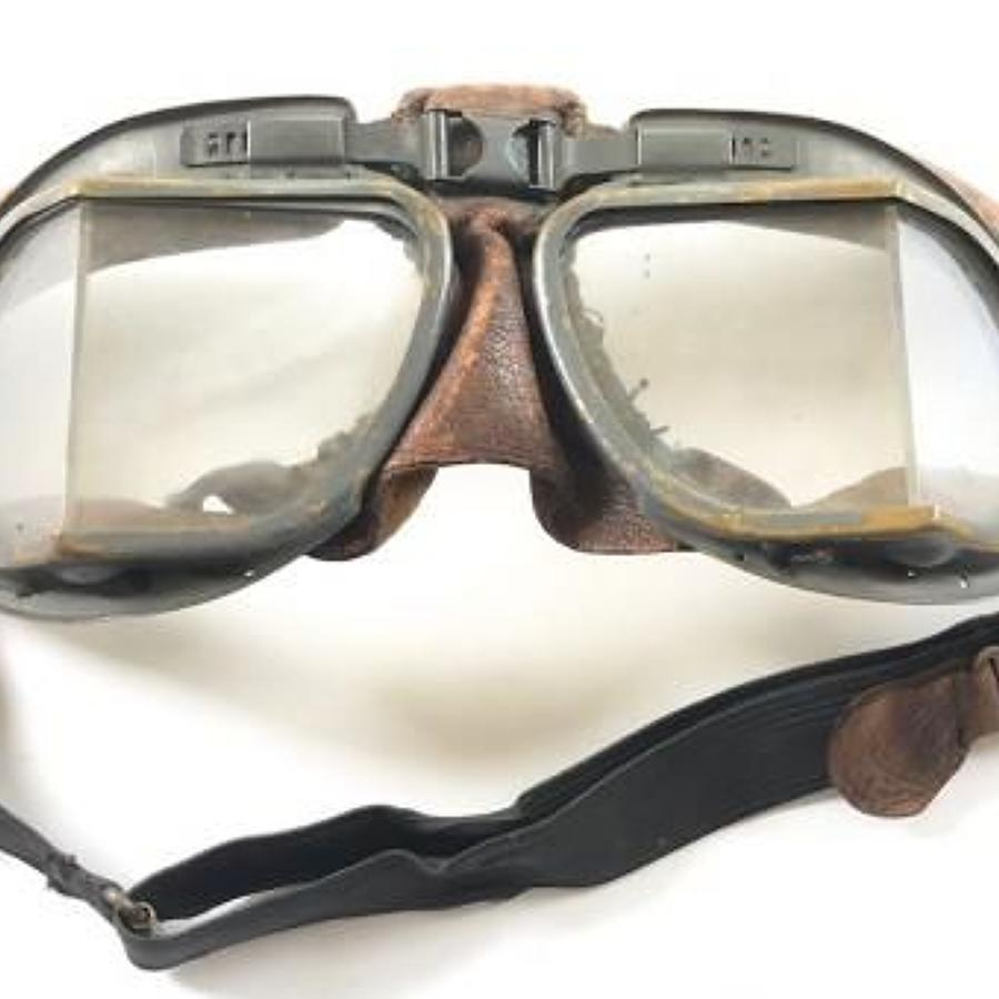 WW2 Pattern RAF MKVIII Flying Goggles.