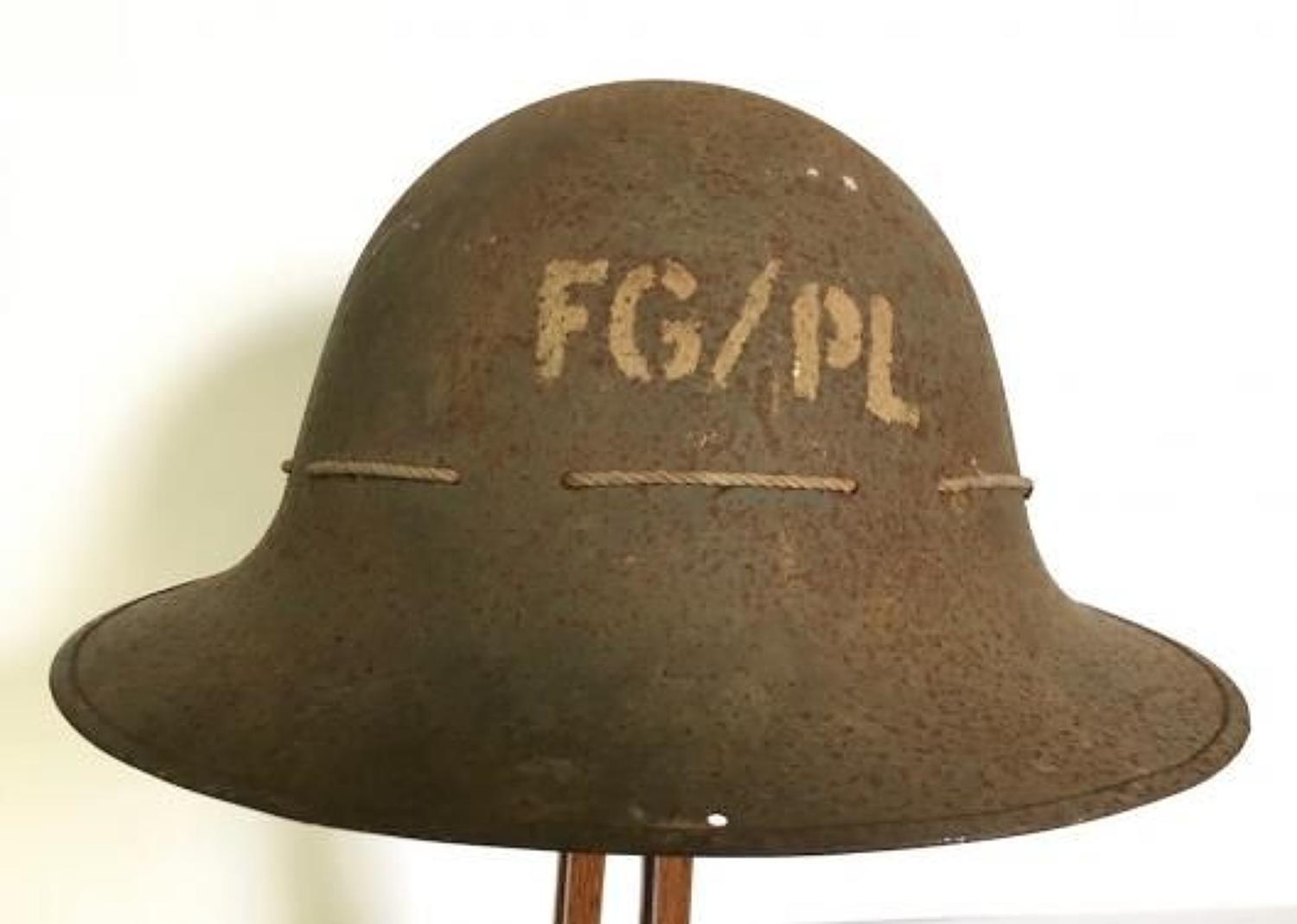 WW2 1941 Home Front ARP Helmet Possibly Plymouth.