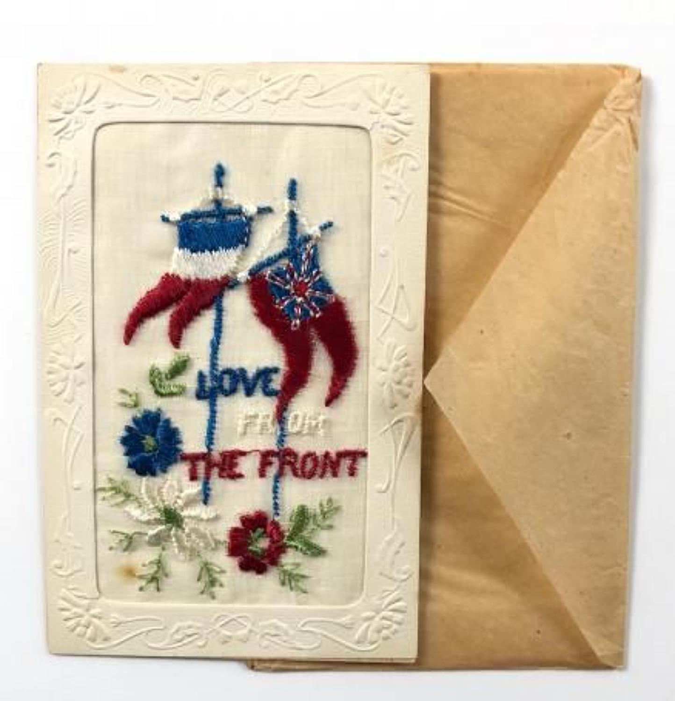 WW1 Silk Embroidered Postcard