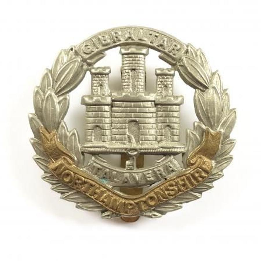 WW1 / WW2 Northamptonshire Regiment Other Rank's Cap Badge.
