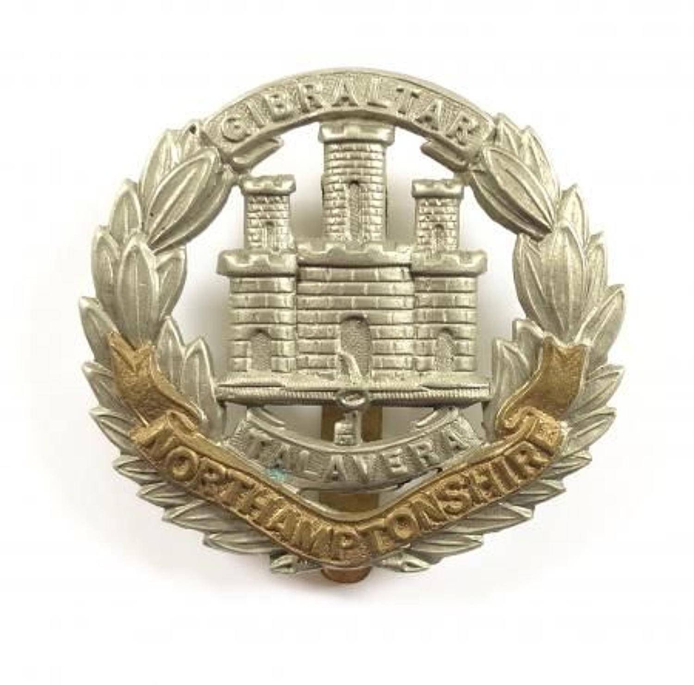 WW1 / WW2 Northamptonshire Regiment Other Rank's Cap Badge.