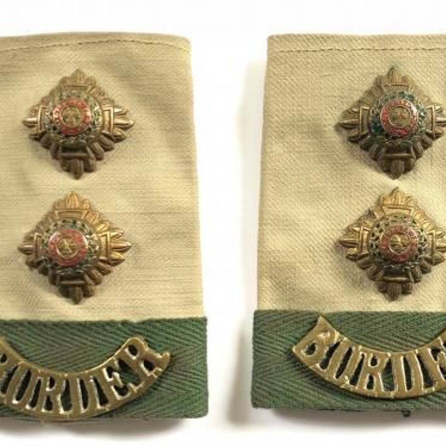 WW2 Border Regiment Officer's KD Slip on Rank Slides.