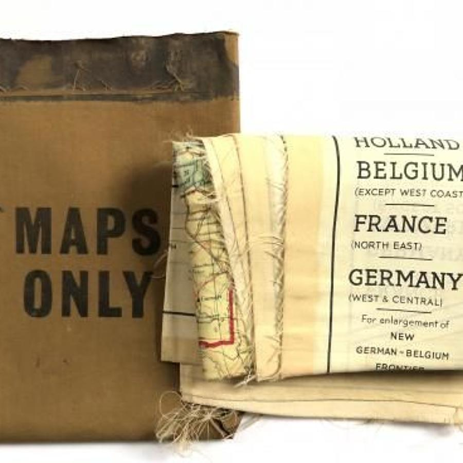 WW2 Period RAF Silk scape & Evasion Map & Packet.