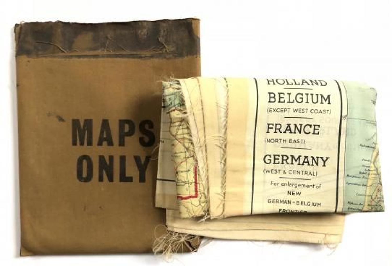 WW2 Period RAF Silk scape & Evasion Map & Packet.
