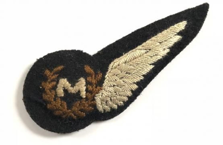 WW2 Period RAF Meteorological Air Observers Brevet Badge.