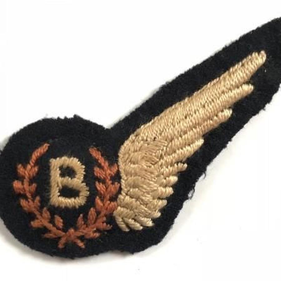 WW2 Period RAF Bomb Aimer Brevet Badge.