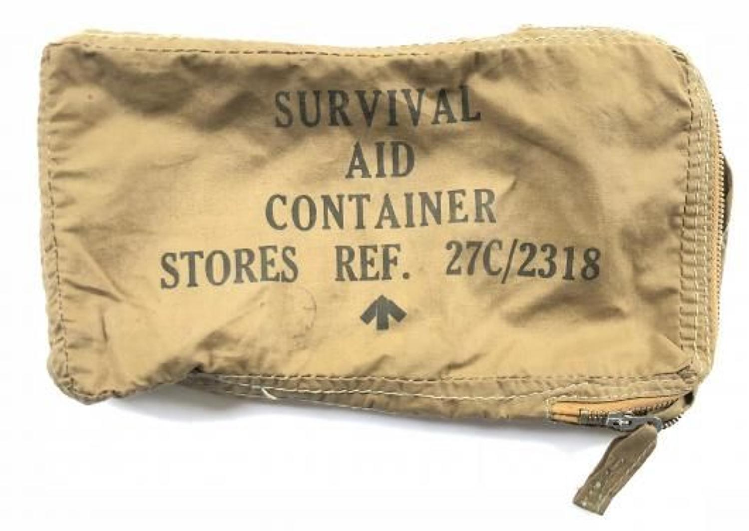 RAF Cold War Period Survival Aid Container and some Contents.