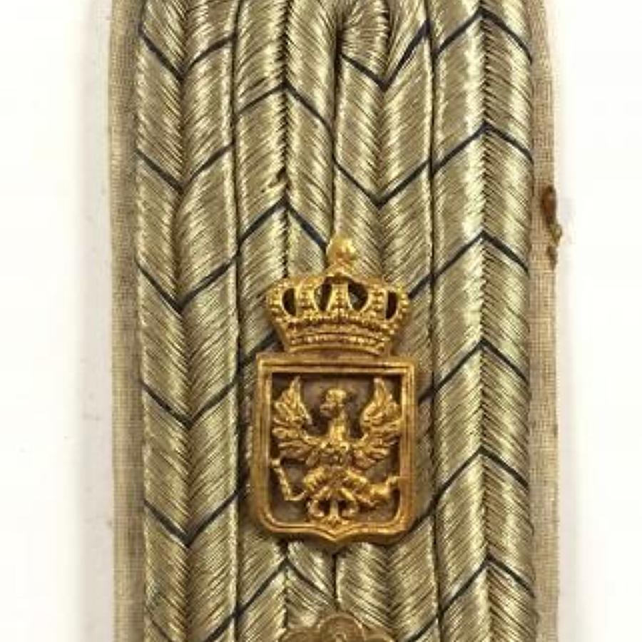 WW1 Imperial German Prussian Officer's  Shoulder Strap.
