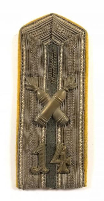 WW1 Imperial German 14th Artillery NCO's Shoulder Strap.