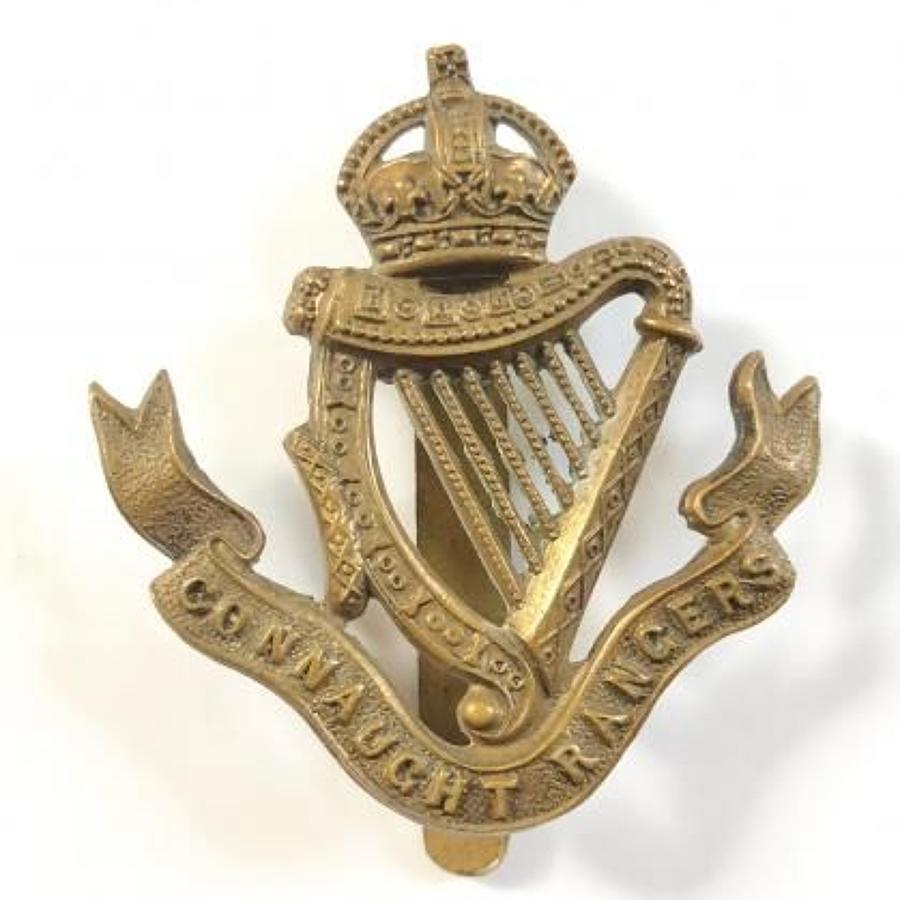 WW1 Period Irish Connaught Rangers Cap Badge.