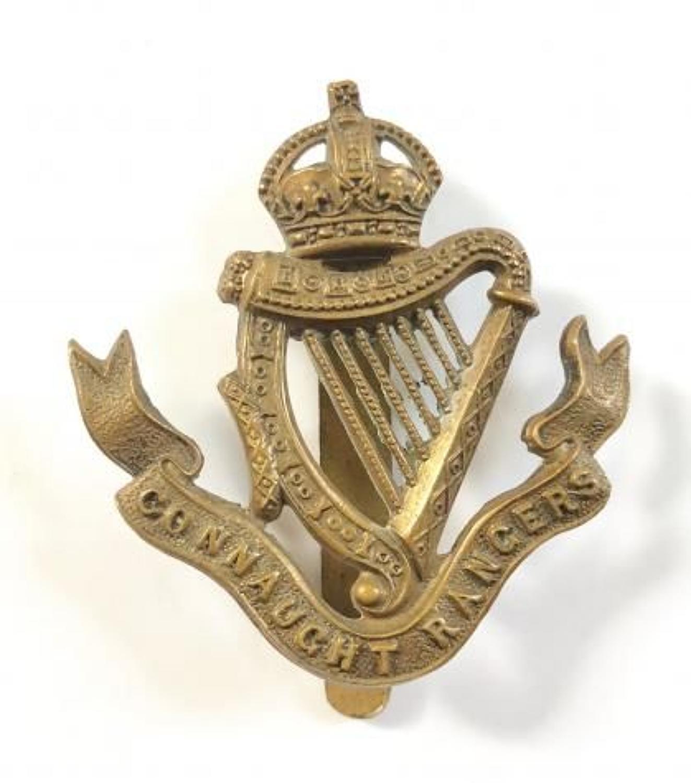 WW1 Period Irish Connaught Rangers Cap Badge.