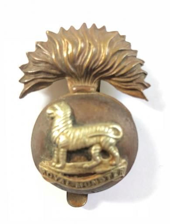 WW1 Period Royal Munster Fusiliers Cap Badge.