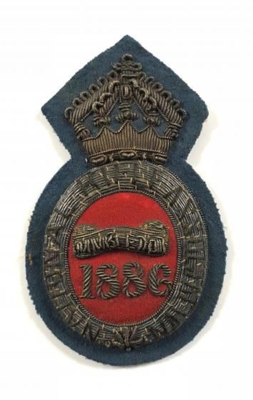 Victorian National Rifle Association 1886 Wimbledon Prize Badge.