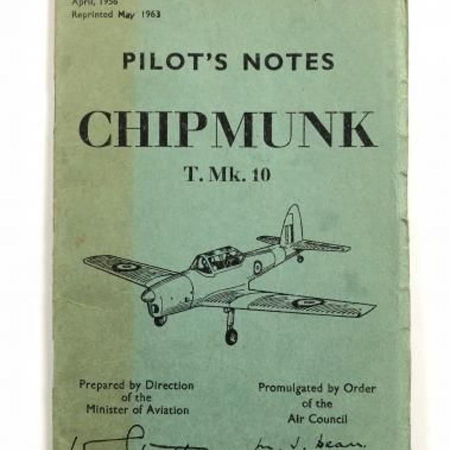 RAF Chipmunk MK10 Original Pilots Notes.