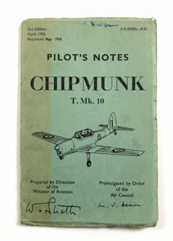 RAF Chipmunk MK10 Original Pilots Notes.