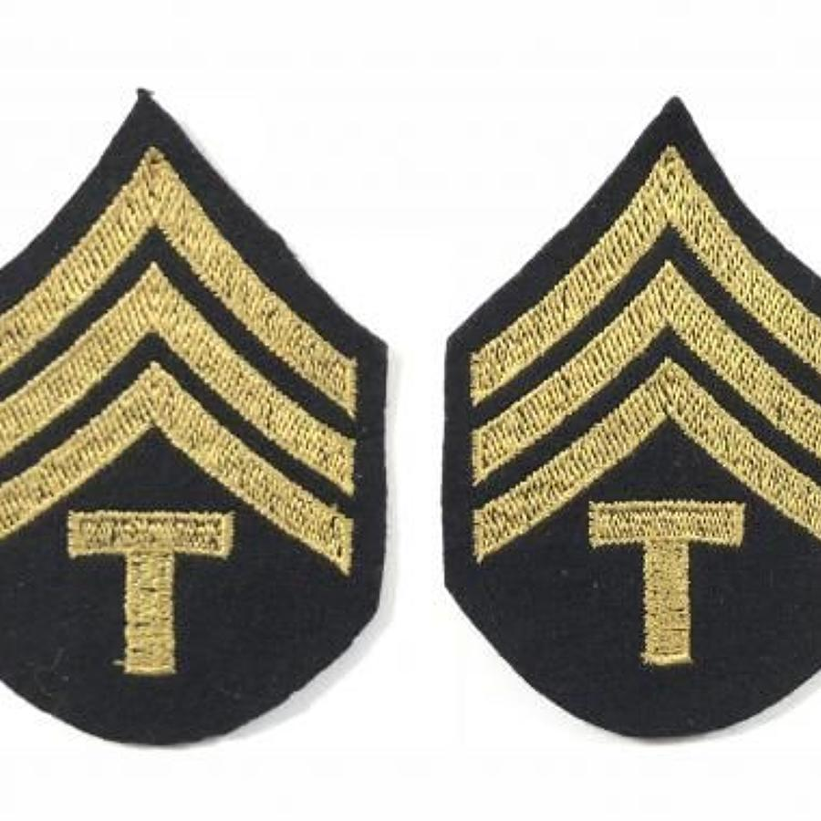 WW2 US Army Technical Sergeant Rank Badges.