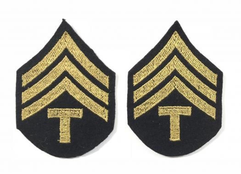 WW2 US Army Technical Sergeant Rank Badges.