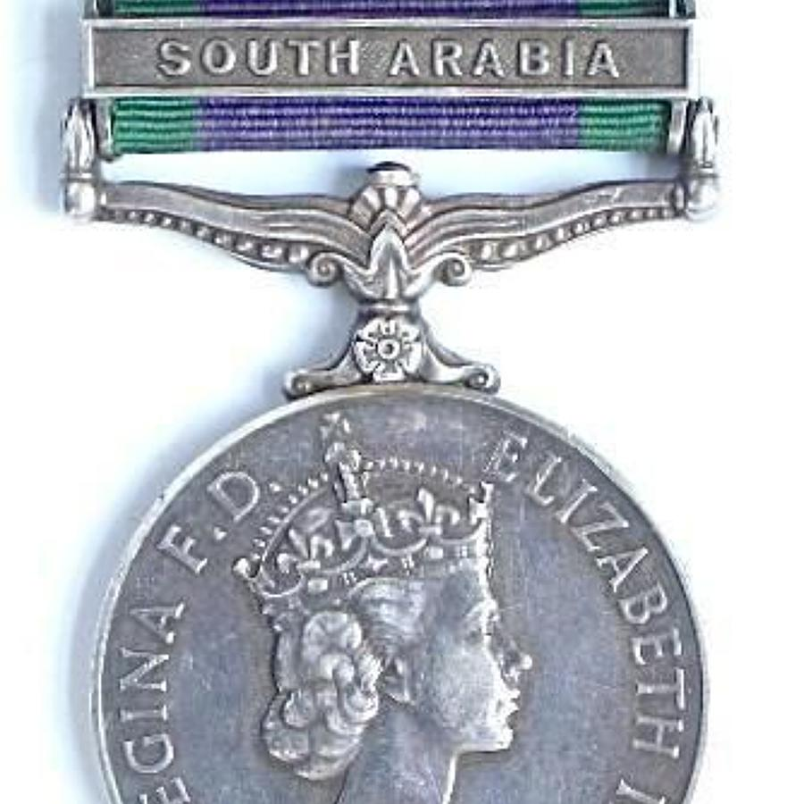 Royal Marines Campaign Service Medal, clasp South Arabia