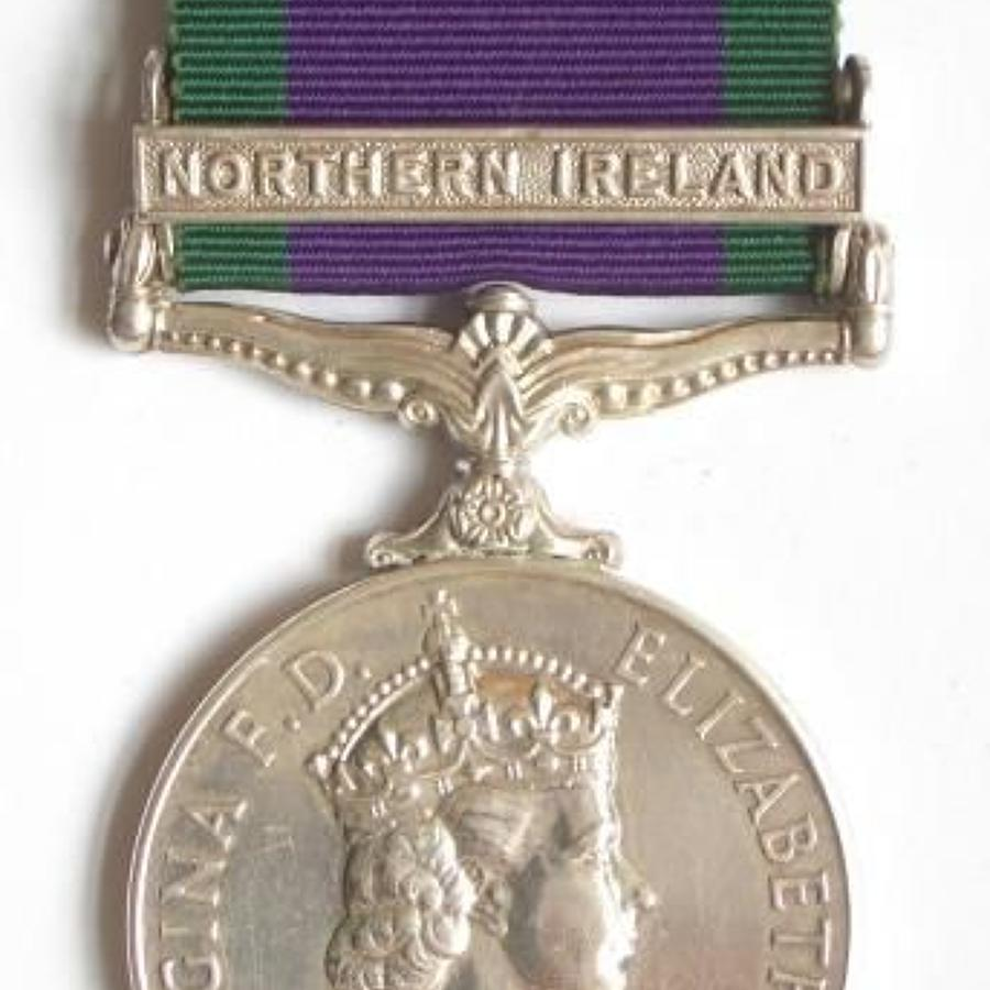 Royal Highland Fusiliers Campaign Service Medal Clasp Northern Ireland