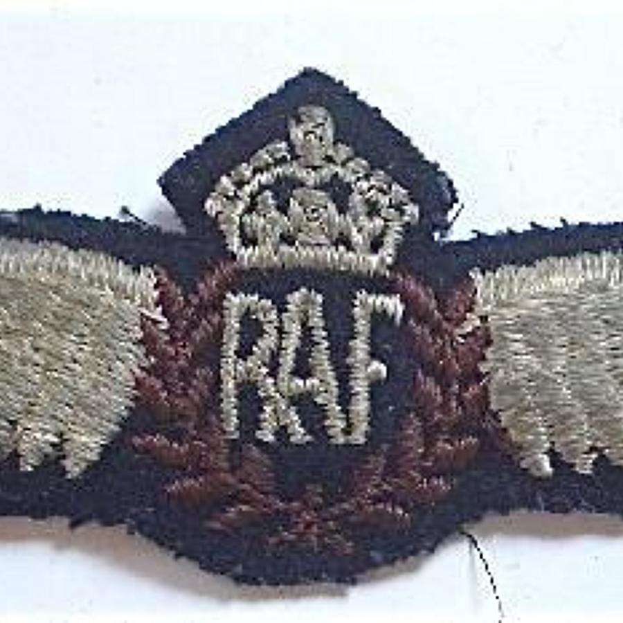 WW2 RAF Pilots Wings Canadian Made.