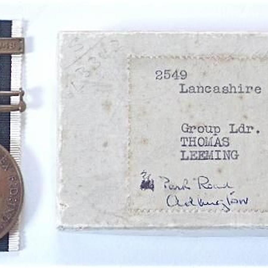 Lancashire Constabulary DCM Winners Medal