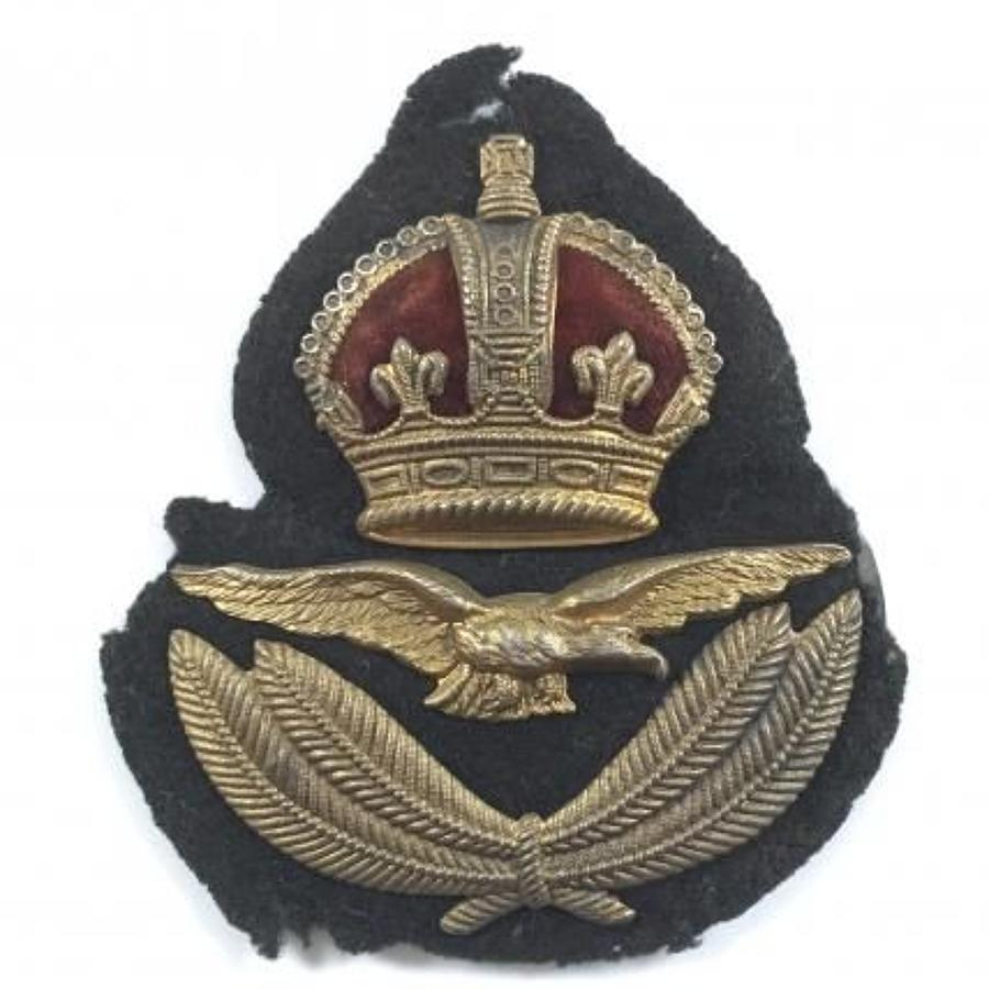 WW1 1918 RAF 1st Pattern Officer's Cap Badge by Gaunt.