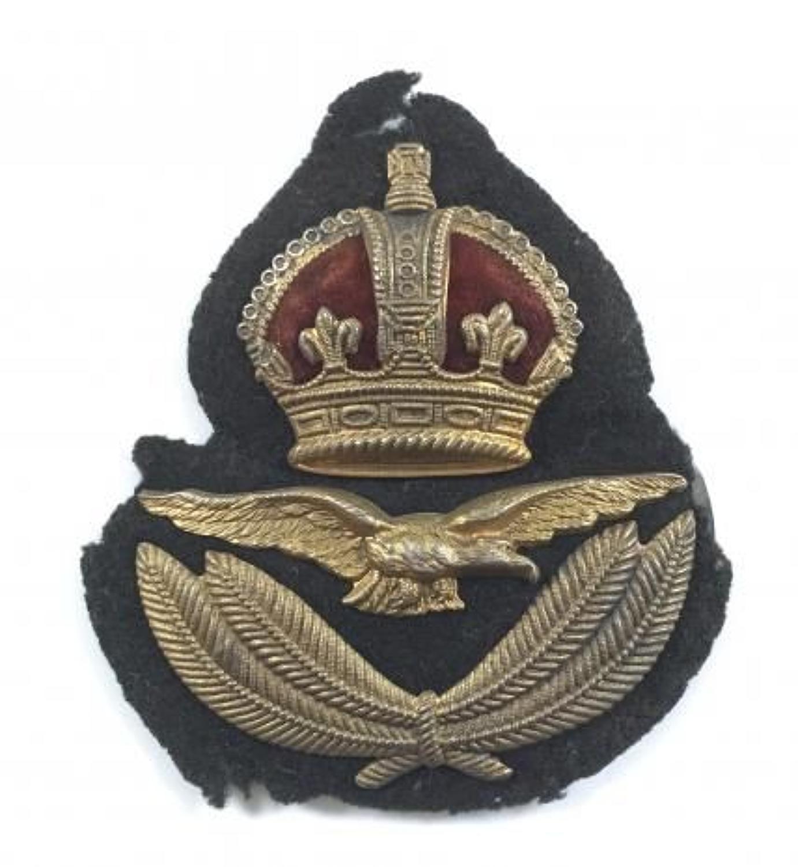 WW1 1918 RAF 1st Pattern Officer's Cap Badge by Gaunt.