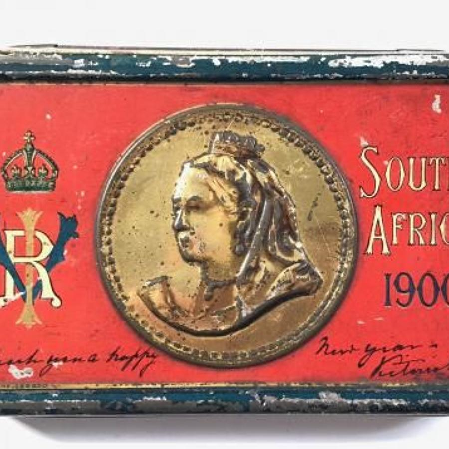 Boer War South Africa 1900 Queen Victoria Chocolate Tin.