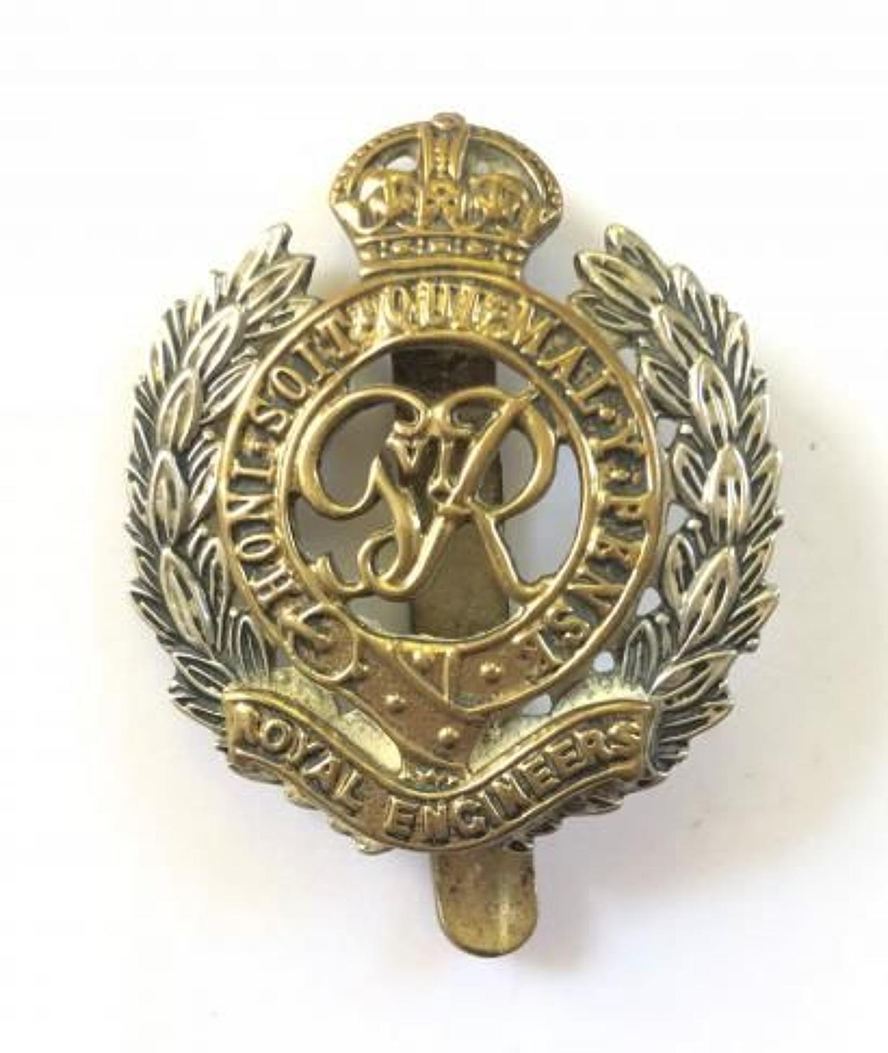 George VI Royal Engineers Cap Badge