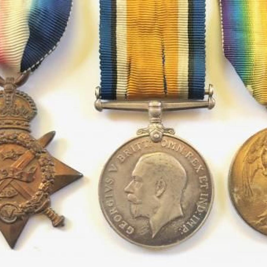 WW1 5th Dragoon Guards / 2nd Birmingham Pals 1914 Star Group of Three