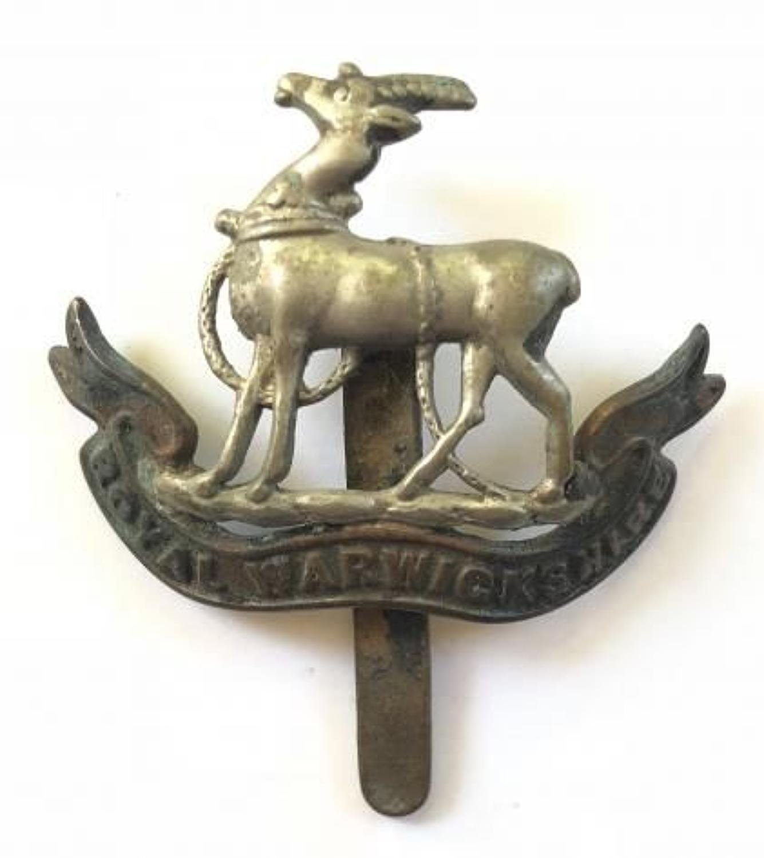 WW1 / WW2 Royal Warwickshire Regiment Cap Badge.
