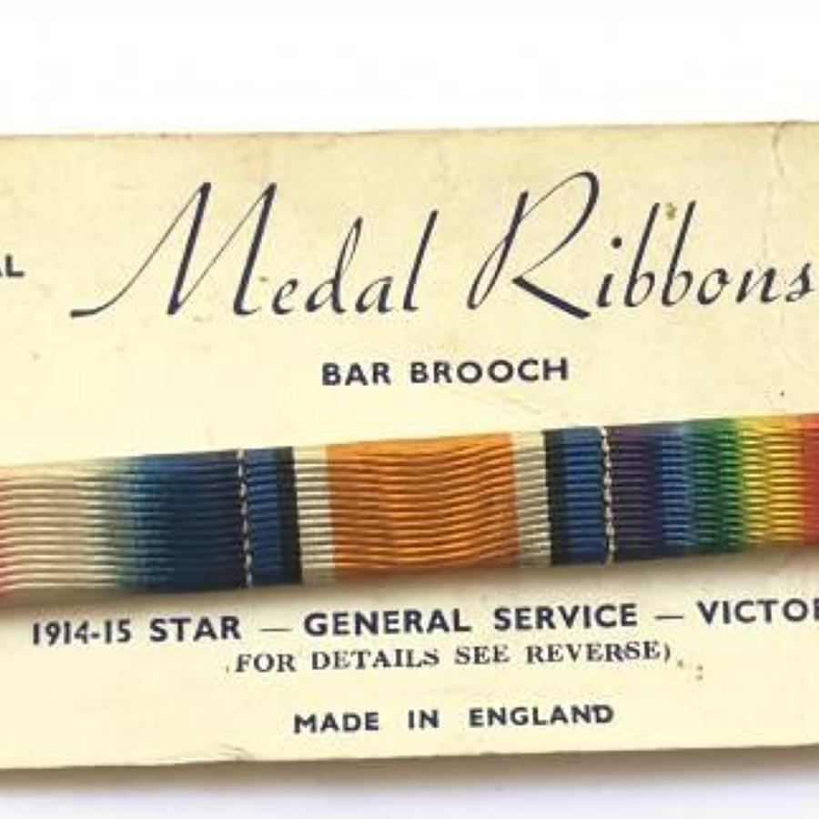 WW1 1914/15 Star Uniform Ribbon Bar
