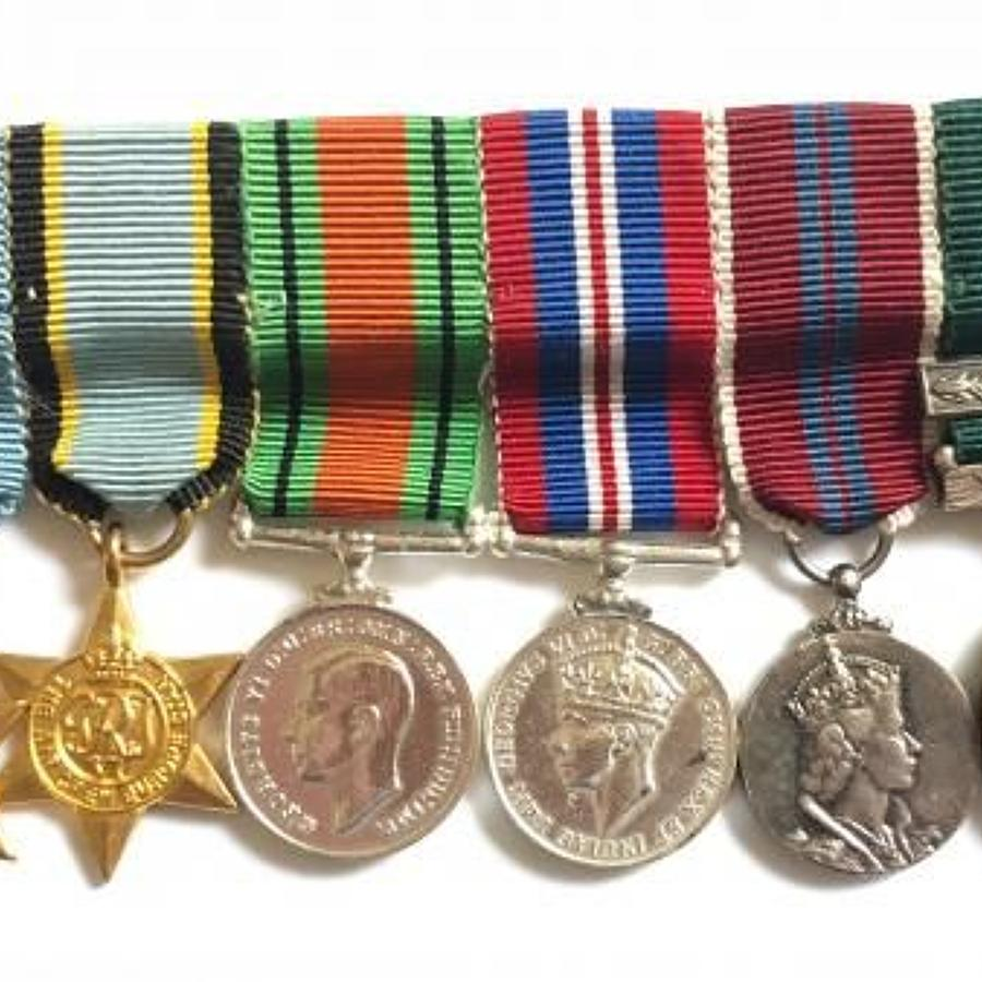 WW2 RAF Aircrew Miniature Medal Group.