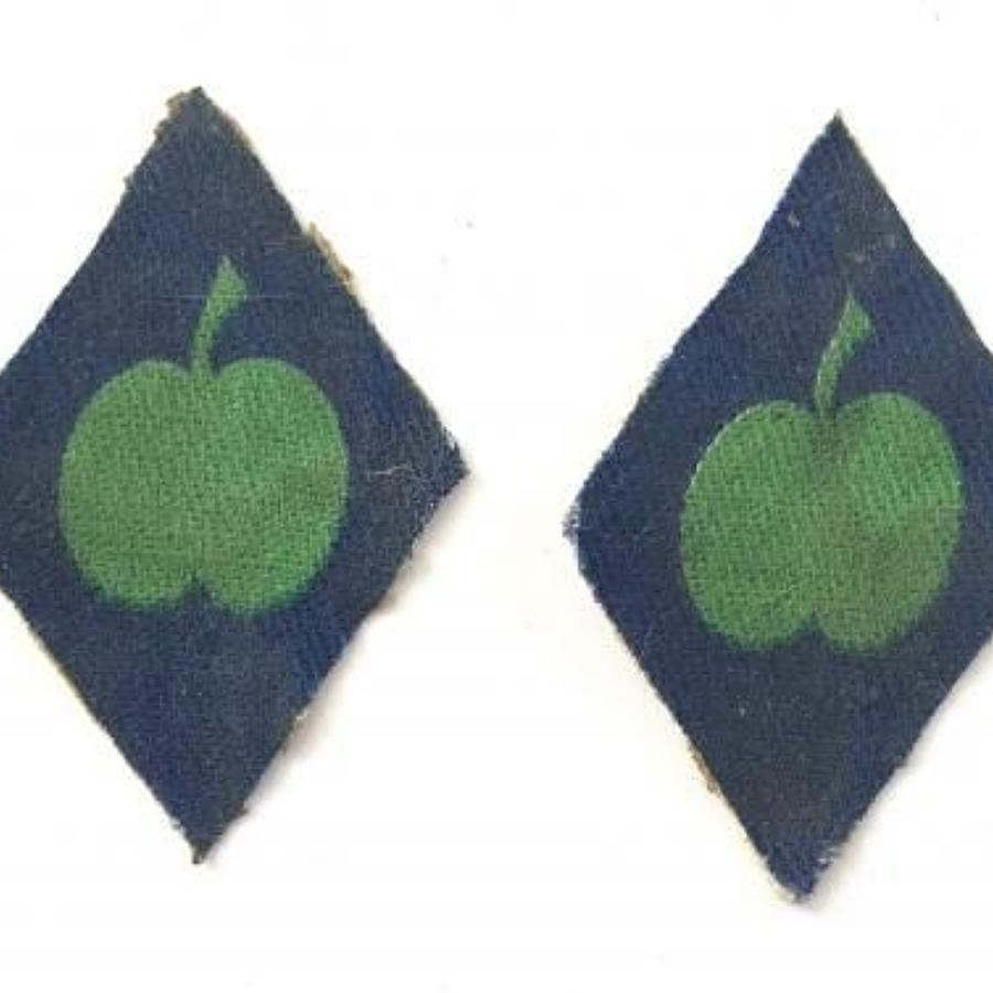 WW2 Pair of Printed Northern Command Formation Cloth Badges.