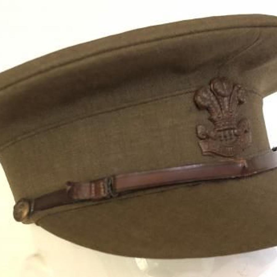 WW1 Welsh Regiment Officer's Early War Period Cap.