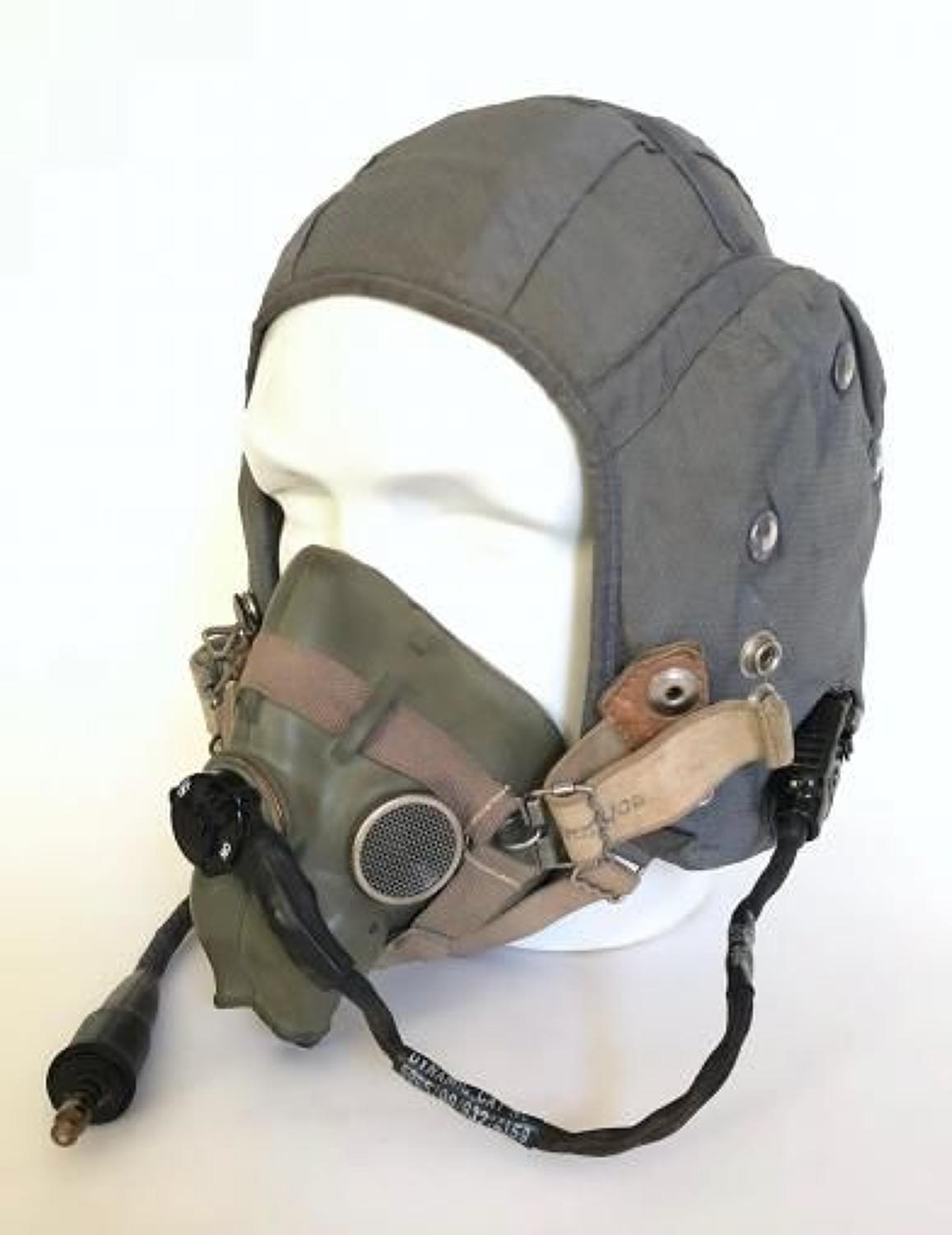 RAF Cold War Period G Type Flying Helmet and H Type Mask Combination.