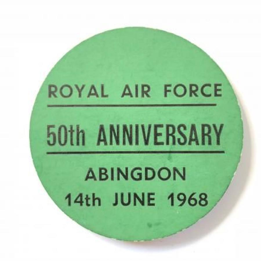 Royal Air Force 50th Anniversary RAF Abingdon Oxfordshire Badge.