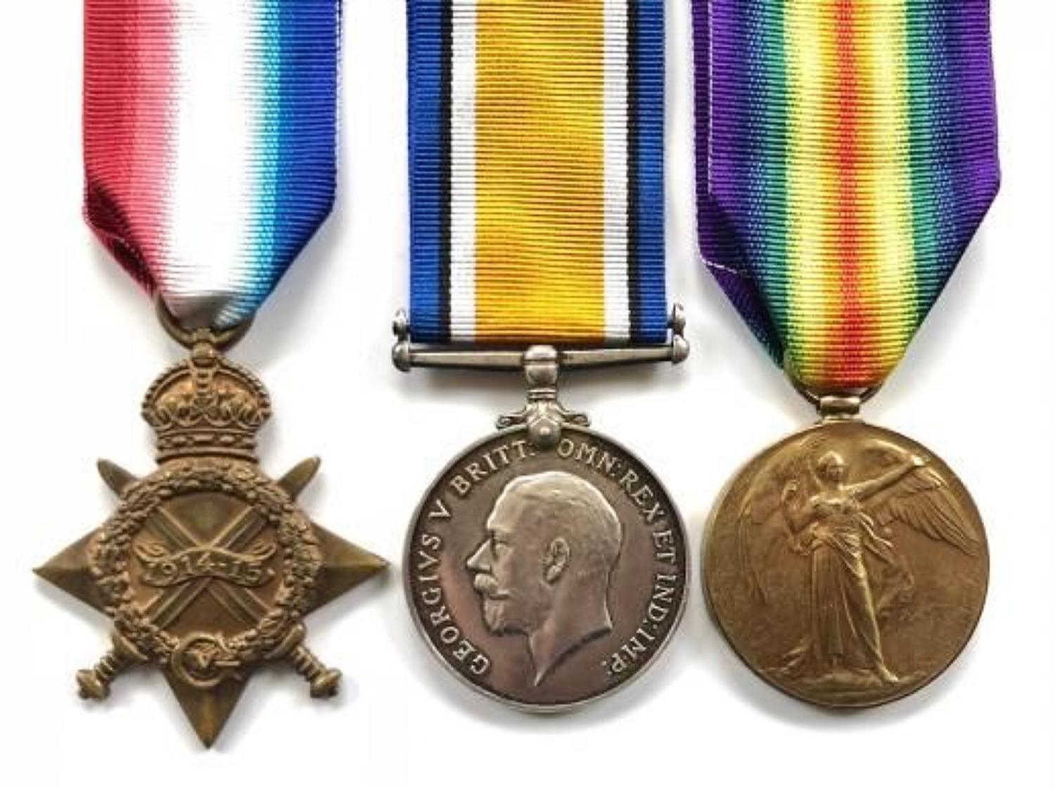 WW1 1st Bn Monmouthshire Regiment Officer's Group of Medals.