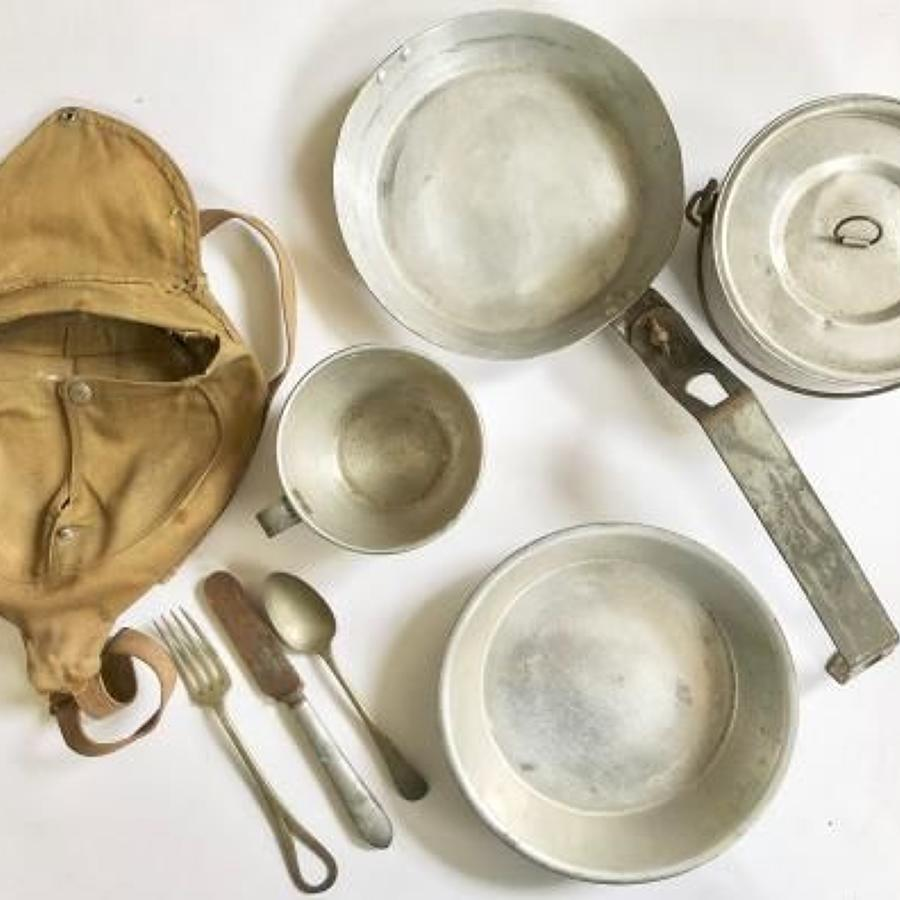 WW1 / WW2 Officer's Private Purchase Cooking Set.