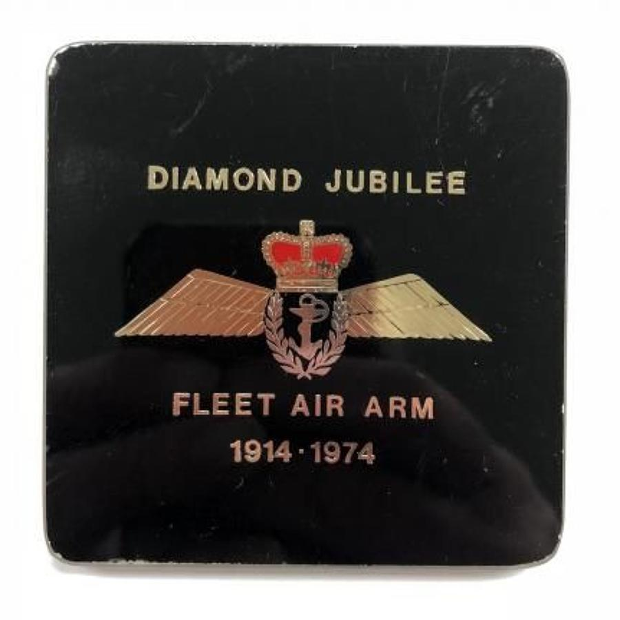 WW2 Fleet Air Arm Diamond Jubilee Cup Coaster Pilots Wings.