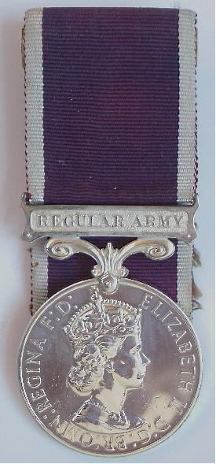 Royal Army Service Corps Army Long Service & Good Conduct Medal.