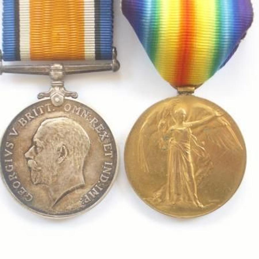 WW1 Queen Mary's Army Auxiliary Corps QMAAC Womens Pair of Medals.