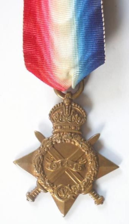 WW1 RAMC & Hampshire Regiment Gallipoli Veteran Casualty 1914/15 Star.
