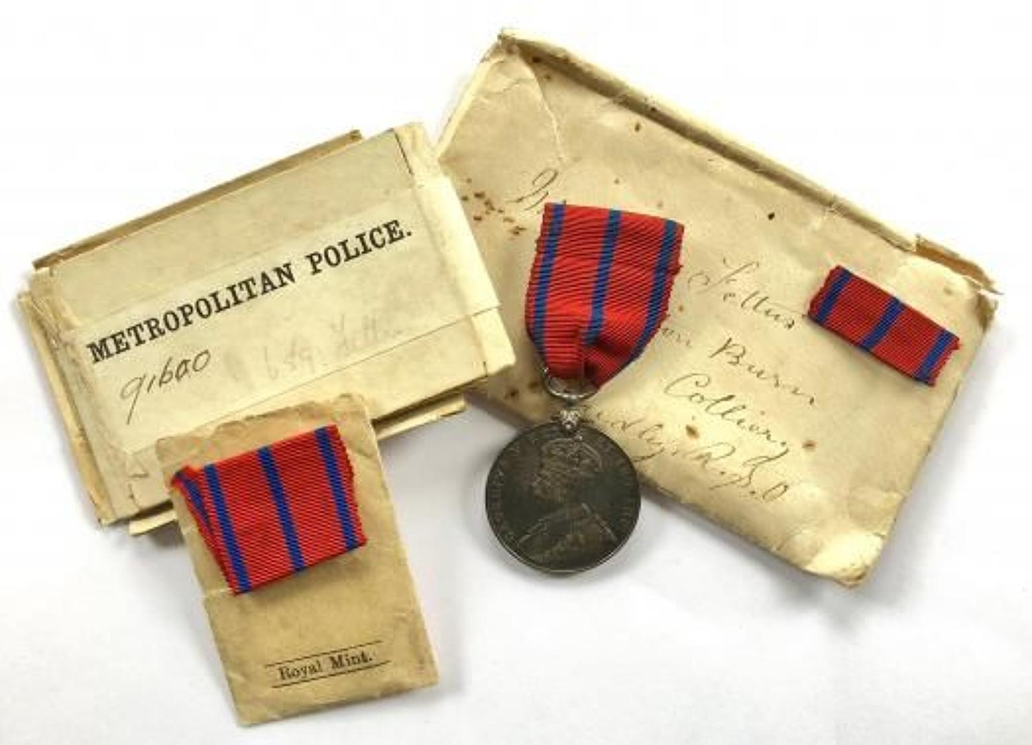 Metropolitan Police 1911 Coronation Medal & Box of Issue.