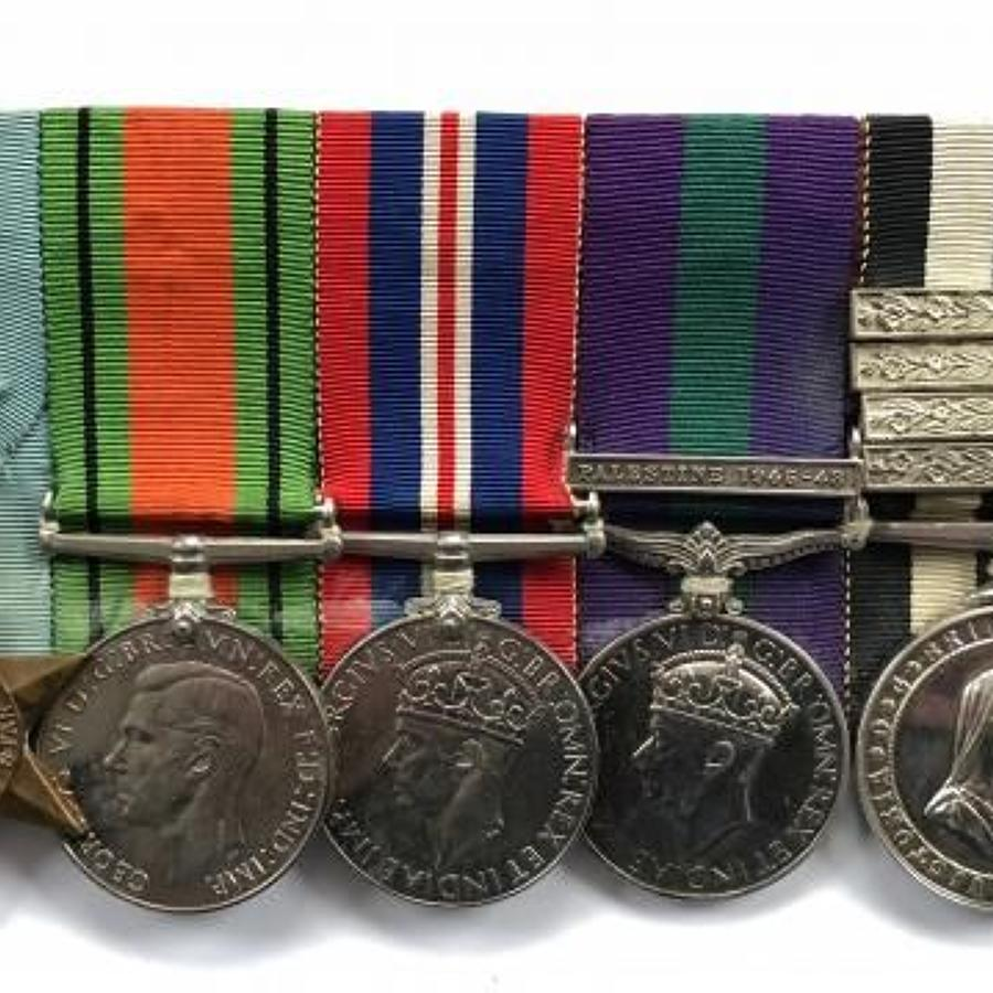 WW2 RAF St.John Ambulance Long Service Group of Five Medals.