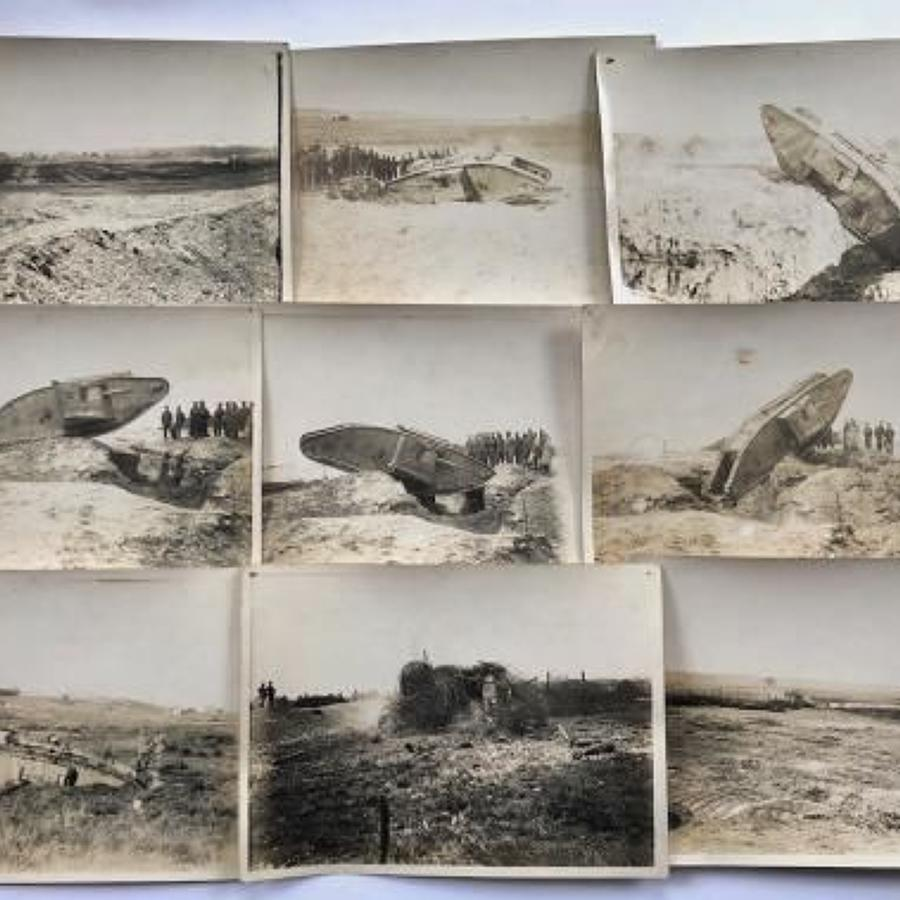 WW1 Tank Corps Original Photographs Of Tanks.