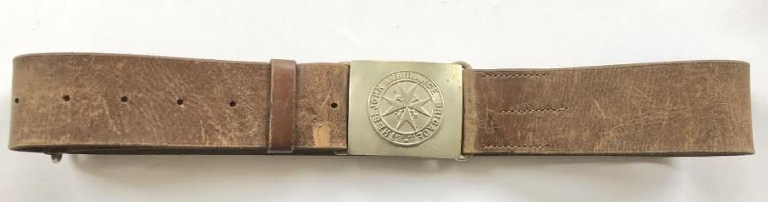 WW1 Patten St.John Ambulance Waist Belt