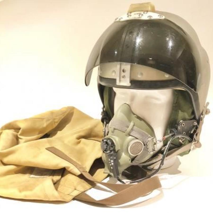 RAF Cold War Period Bone Dome & Inner Flying Helmet.